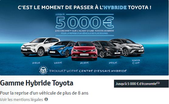 Gamme Hybride Toyota