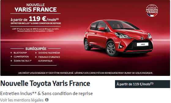 Nouvelle Toyota Yaris France